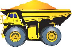 Heavy Goods Vehicle. Carrying sand
