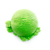 Heavy green color icecream scoop Stock Images