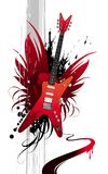 Heavy guitar. Vector illustration with red heavy guitar Royalty Free Stock Images