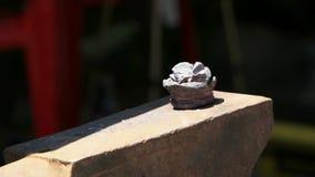 Heavy Hammer Has Iron Giving it Shape stock footage