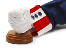 Heavy Hand of Justice Royalty Free Stock Photography