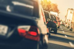 Heavy Highway Traffic Stock Images