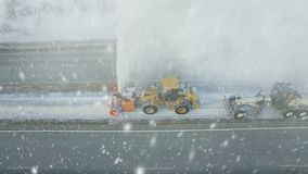 Heavy big storm snow fall, grader clean remove snow, snowplow, snow blower, blast snowfall, winter, road, special