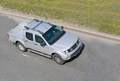 Heavy hunting pickup truck. Heavy open delivery pickup truck on road of business vehicles series Stock Image