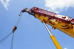 Heavy hydraulic crane Royalty Free Stock Images