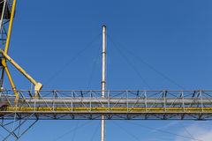 Heavy industrial. And beautiful sky Royalty Free Stock Photo