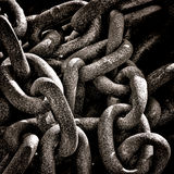 Heavy Industrial Corroded Rusty Chain Ring Grunge Stock Photo