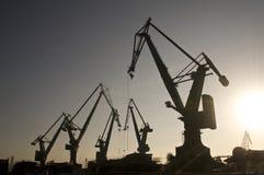 Heavy industrial cranes Stock Image