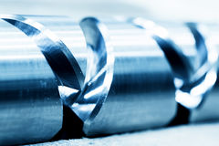 Heavy industrial element, screw. Industry, close-up Royalty Free Stock Photo