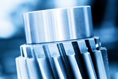 Heavy industrial element, screw. Industry, close-up Stock Image