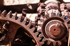Heavy industrial gears Stock Image
