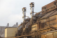Heavy industrial iron plant Stock Images