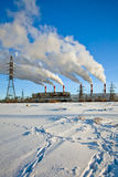 Heavy industrial pollution Royalty Free Stock Photography