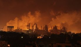 Heavy Industrial Pollution Stock Photos