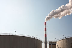 Heavy industrial pollution Royalty Free Stock Photo
