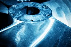 Heavy industrial shipbuilding element close-up. Stock Photography