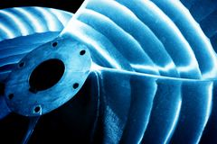 Heavy industrial shipbuilding element close-up. Industry Stock Photos