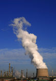 Heavy industrie. With smoke in the sky royalty free stock photos
