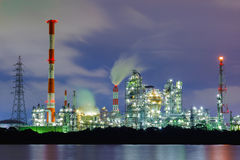 Heavy industry. Fulltime heavy industry at midnight stock photos
