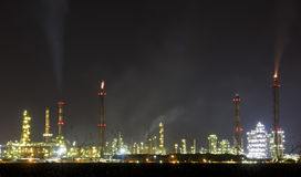 Heavy industry. Pollute the atmosphere Royalty Free Stock Images