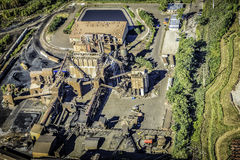 Heavy industry aerial view Royalty Free Stock Image