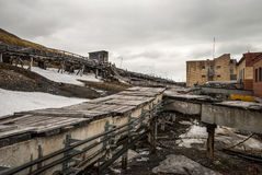 Heavy industry in Barentsburg, Russian settlement in Svalbard Stock Images