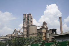 Heavy Industry Building. A cement factory in operation Stock Photography