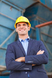 Heavy industry businessman Royalty Free Stock Photo