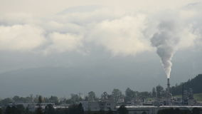 Heavy Industry Chimney. Heavy Industry Clip Of Smoke Pollution From A Factory Or Power Station Chimney stock footage