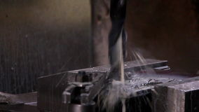 Heavy industry - Drilling machine stock footage
