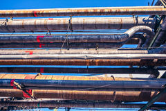 Heavy industry factory pipelines Royalty Free Stock Photos