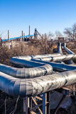 Heavy industry factory pipelines Royalty Free Stock Photography