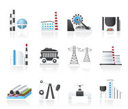 Heavy industry icons. Vector icon set Stock Image