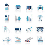 Heavy industry icons. Vector icon set Royalty Free Stock Photo