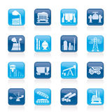 Heavy Industry Icons Royalty Free Stock Images