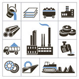 Heavy industry icons Stock Photo