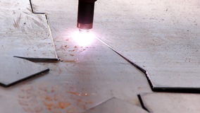 Heavy industry - The industrial laser cut machine stock video
