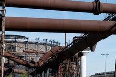 Heavy industry and mining museum in ostreva vitkovice in czech republic. Huge outdoor heavy industry and mining museum in ostreva vitkovice in czech republic stock image