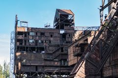 Heavy industry and mining museum in ostreva vitkovice in czech republic. Huge outdoor heavy industry and mining museum in ostreva vitkovice in czech republic royalty free stock photo