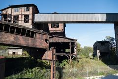 Heavy industry and mining museum in ostreva vitkovice in czech republic. Huge outdoor heavy industry and mining museum in ostreva vitkovice in czech republic stock photography