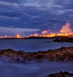 Heavy Industry near Gladstone, Queensland. A picture of heavy industry by the sea near Gladstone, Queensland, Australia. This was taken just after the sun had Stock Image