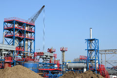 Heavy industry plant construction site Royalty Free Stock Photography