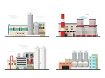 Thermal power station,chemical factory or plants Stock Image