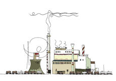 Heavy Industry, power generator view, Environmental concept. Industrial view, nuclear power, environmental concept Stock Photography