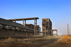 Heavy industry ruins Stock Photos