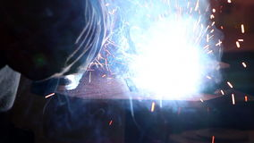 Heavy industry - welding stock footage