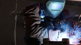 Heavy industry - welding stock video
