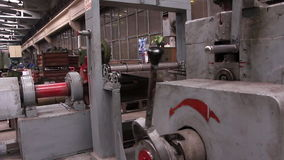 Heavy industry - Wide cutting sheet metal machine, stock footage
