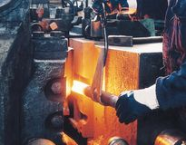 Heavy industry and worker Royalty Free Stock Photos