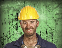 Heavy industry worker portrait Stock Image